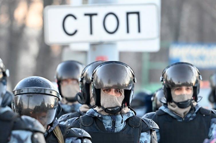 Policiers à Moscou