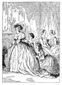 An illustration from vanity Fair.