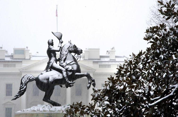 La statue d'Andrew Jackson