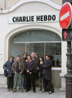 Des membres de l'équipe de Charlie Hebdo