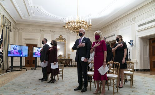 President Joe Biden and his wife Jill attend the National Prayer Breakfast at the White House.