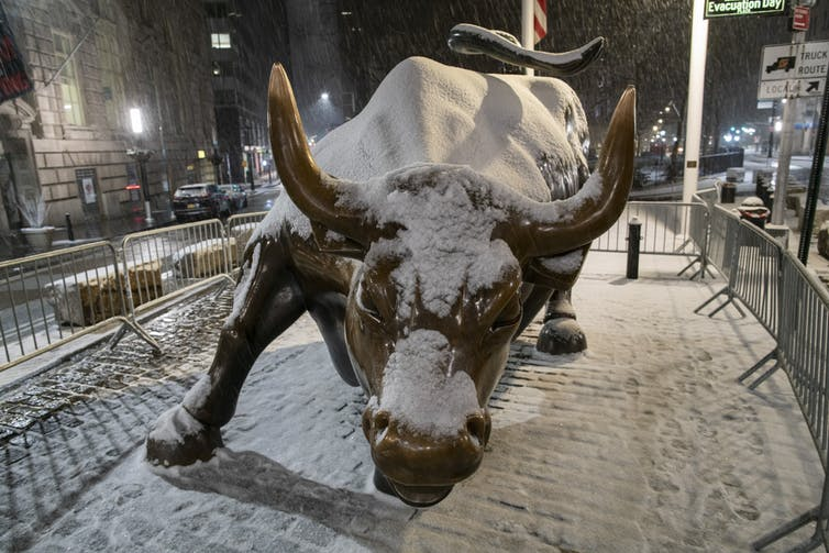 The bull of Wall Street.