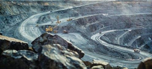 Gold mine at Kalgoorlie
