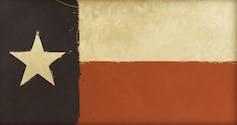 Faded, sepia-toned Texas flag