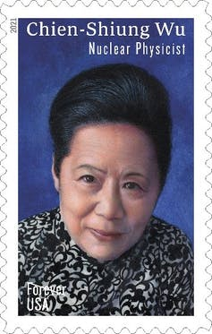 Forever stamp with portrait of Chien-Shiung Wu.
