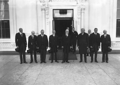 Members of the Supreme Court visit the White House, 1934