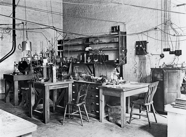 The room used by Ernest Rutherford for his atomic research