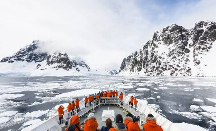 Group of women sailing to Antarctica
