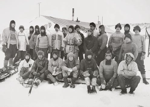 Group photo of the Scott Antarctic expedition