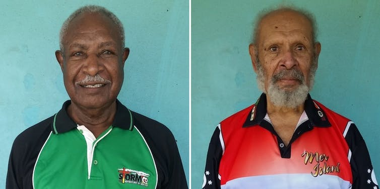 Head shots of the two Meriam elders.