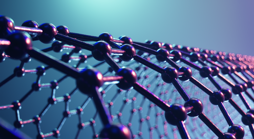 Illustration of the structure of graphene.