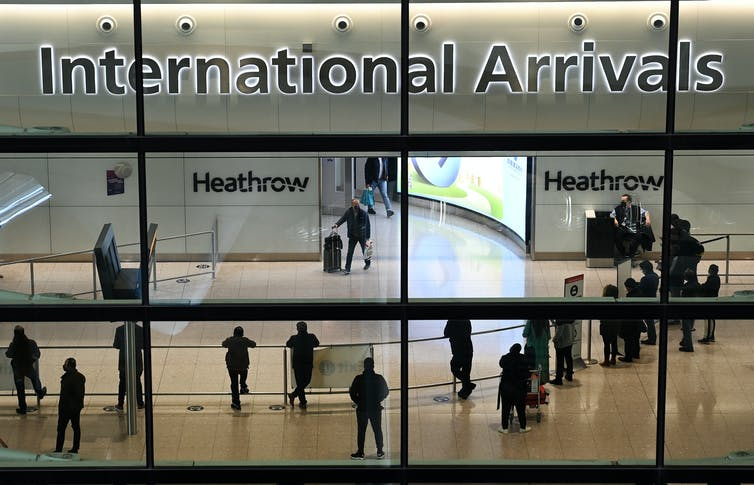 The international arrivals hall at Heathrow.