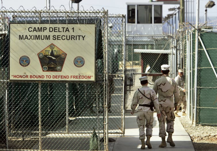 A view of part of the Guantanamo detention site
