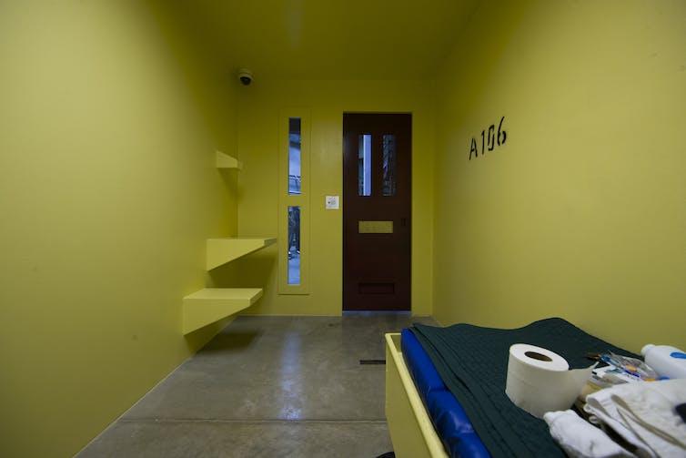 A cell at Guantanamo