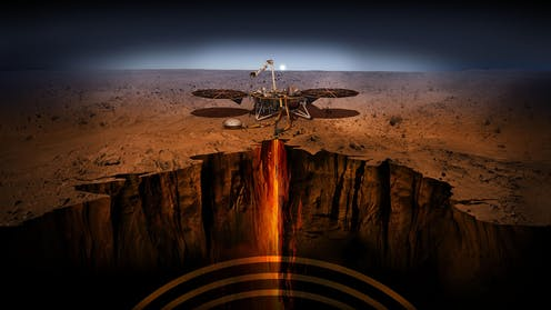 Artist impression of Mars Insight.