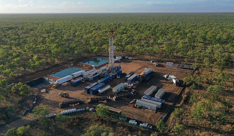 Gas infrastructure at Beetaloo Basin