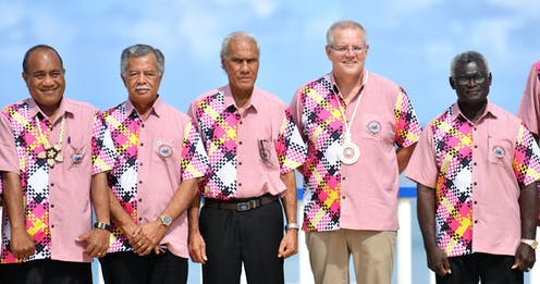 Pacific leaders at the Pacific Islands Forum in 2019