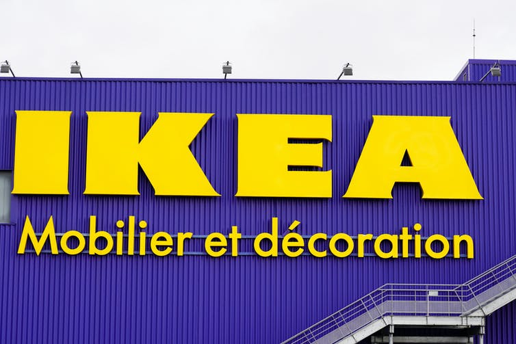 Ikea sign in France