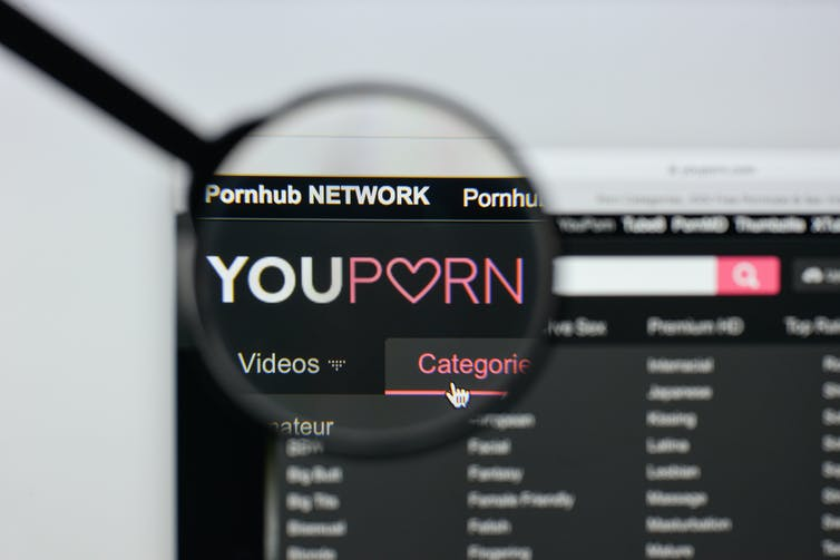 Screen shot of YouPorn website