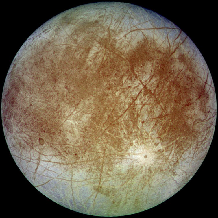Image of Jupiter's moon Europa.
