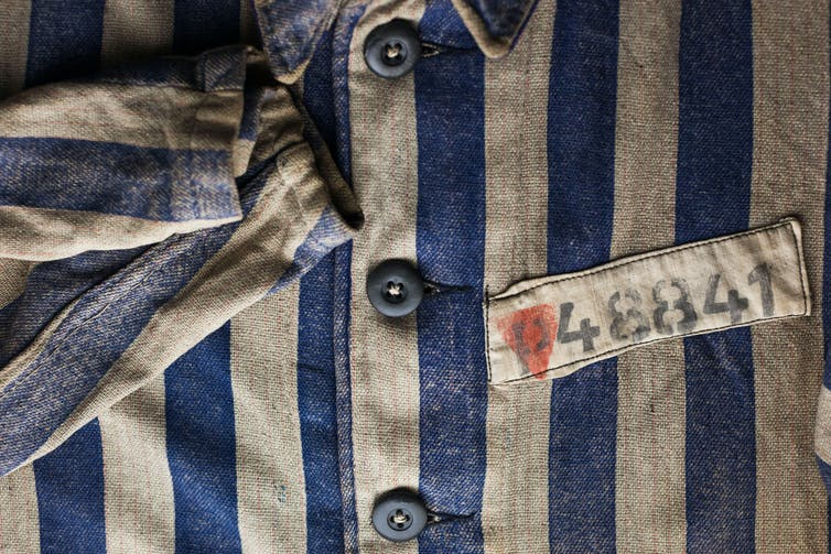Concentration camp uniform worn by homosexuals with pink triangle
