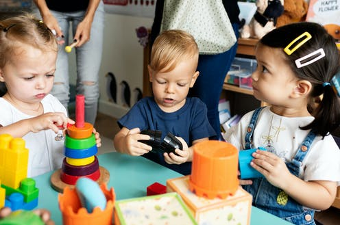 Children playing at preschool.