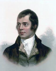 Portrait of Scots bard Robert Burns.