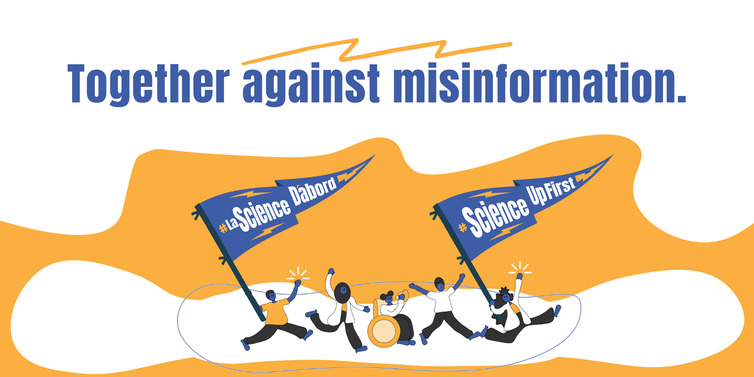 ScienceUpFirst logo reading 'Together against misinformation'