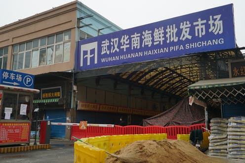 Exterior of the now closed Wuhan wet market
