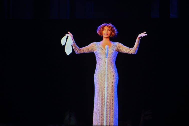 Digital hologram of singer onstage