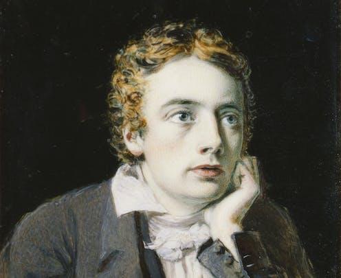 Painting of a young John Keats.