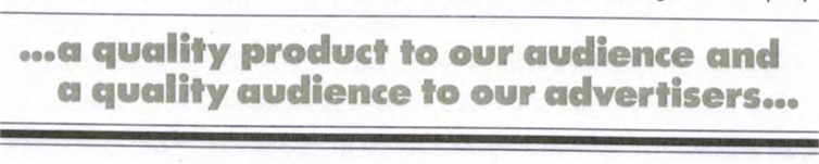 Scan of a line from the Washington Post annual report in 1972: ... a quality product to our audience and a quality audience to our advertisers ...