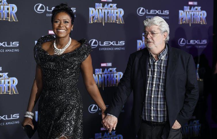 Businesswoman Mellody Hobson and her husband, filmmaker George Lucas