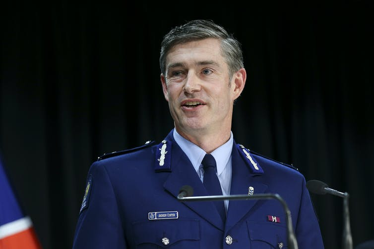 Police commissioner Andrew Coster in uniform