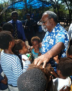 Sir Michael Somare and children