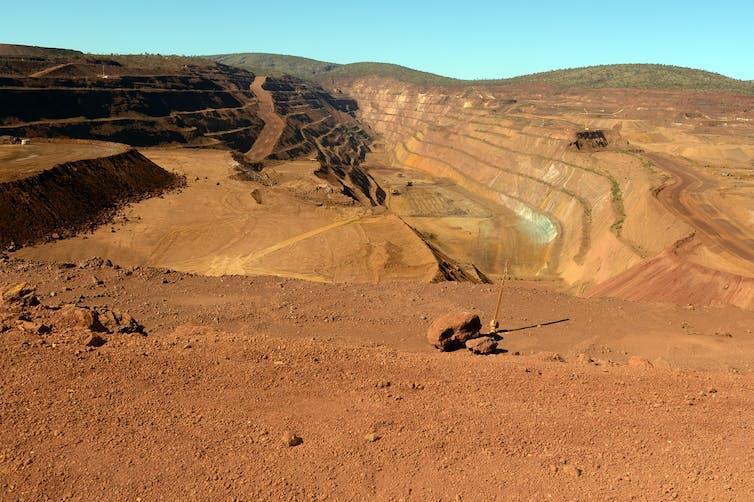 Rio Tinto iron ore mine in the Pilbara.