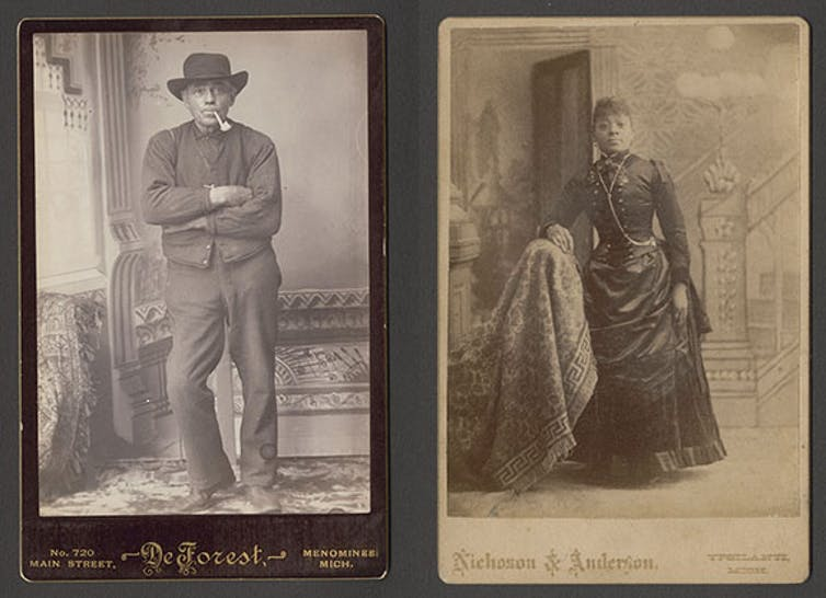 Cabinet card portraits of African Americans