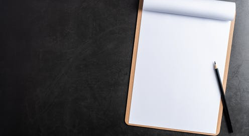 A blank clipboard with pencil.