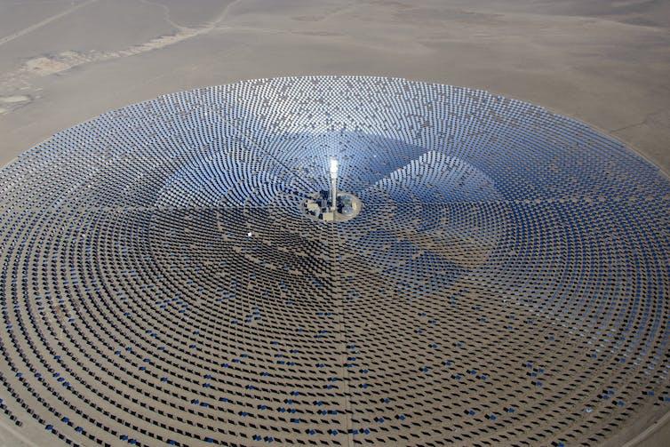 Artist impression of SA solar plant