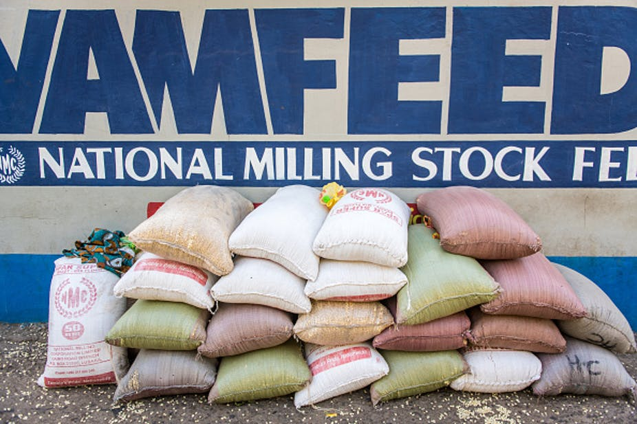 Bags of maize.
