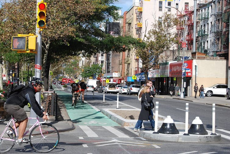 New York City bicycling lane