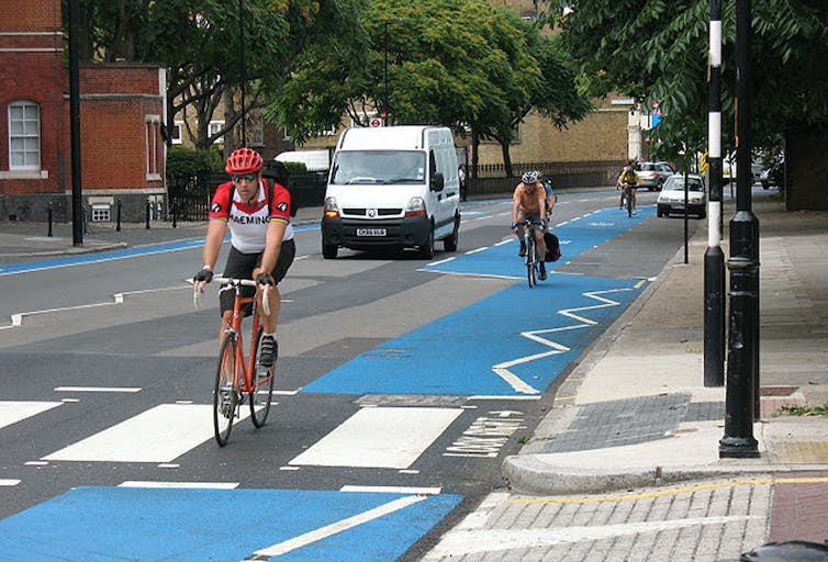 London 'cycling superhighway'