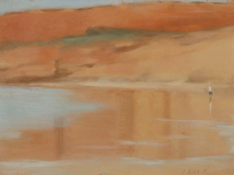 Painting of ocean beach