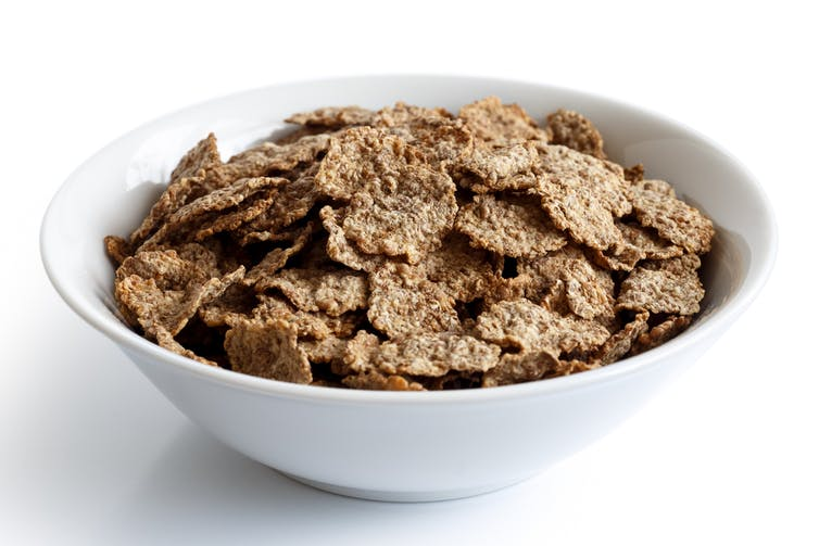 Bowl of high-fibre cereal