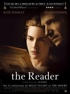 Kate Winslet and Ralph Fiennes on a promotional poster for the film The Reader
