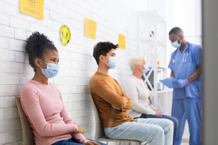 Patients waiting for COVID vaccines
