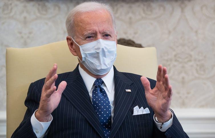 President Biden speaking in the Oval Office