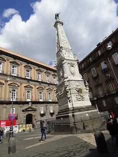 The San Domenico column, Naples.