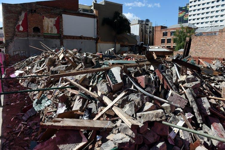 The Corkman Irish Pub site after its demolition