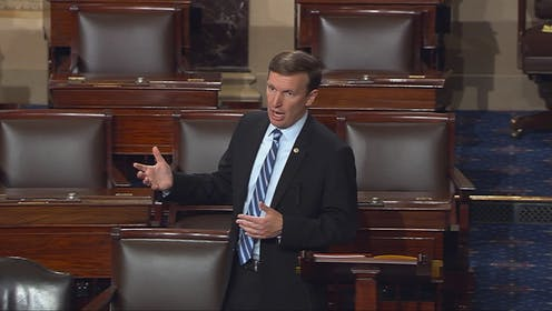 Sen. Chris Murphy begins a filibuster in 2016
